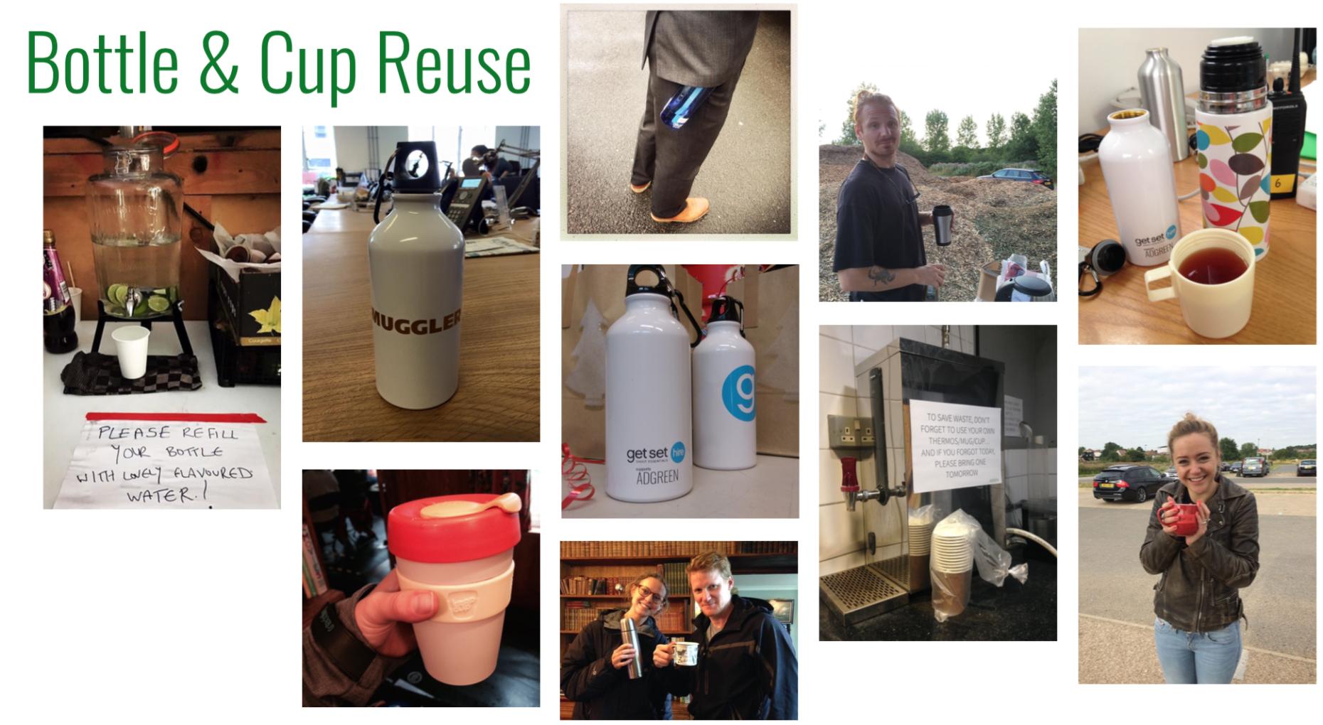 cup & bottle reuse
