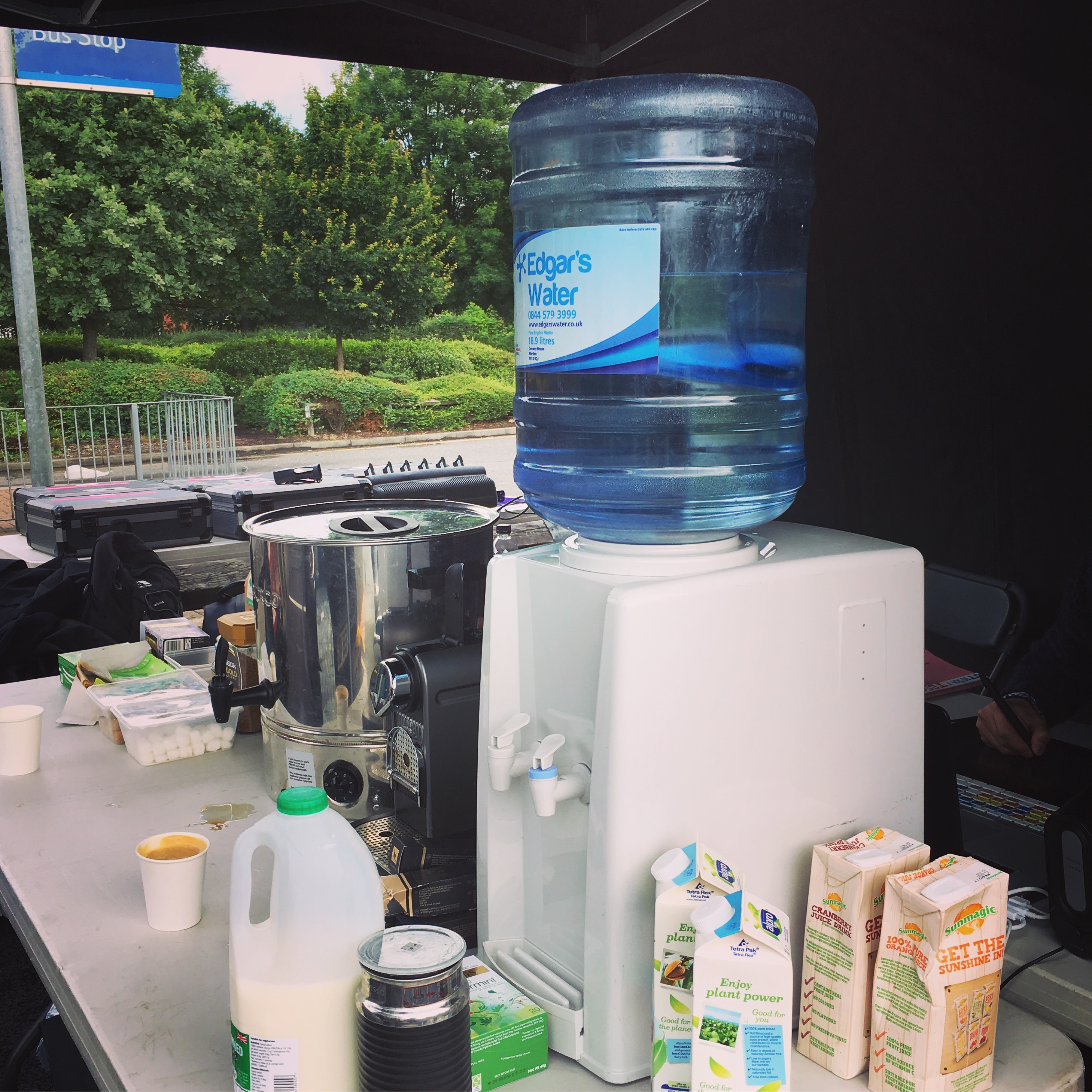 Get Set Hire water cooler in action