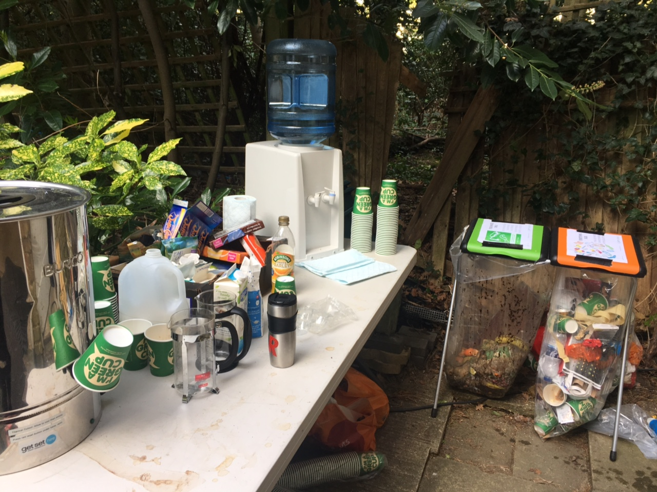 My tea table set up