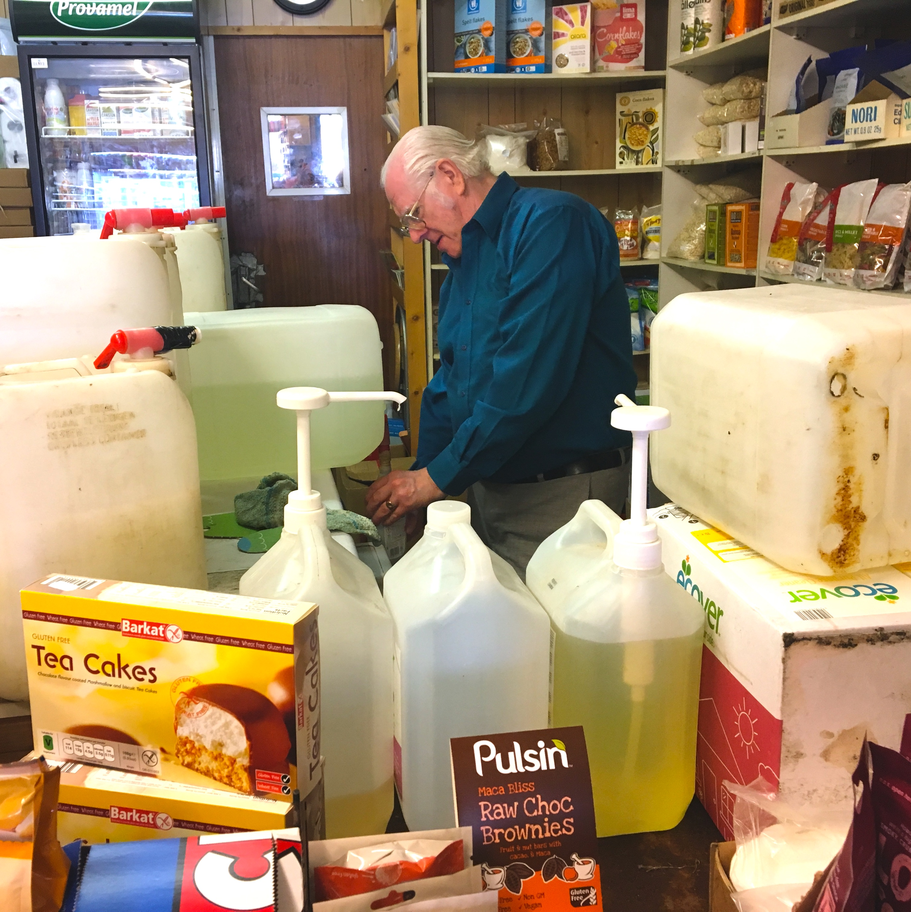 George at his refill station